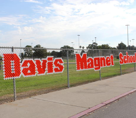 Davis Magnet School. Math, Science, Technology.